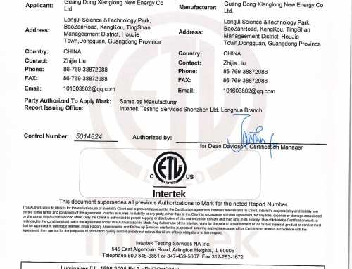 ETL certificate of JAMSEM led panel light