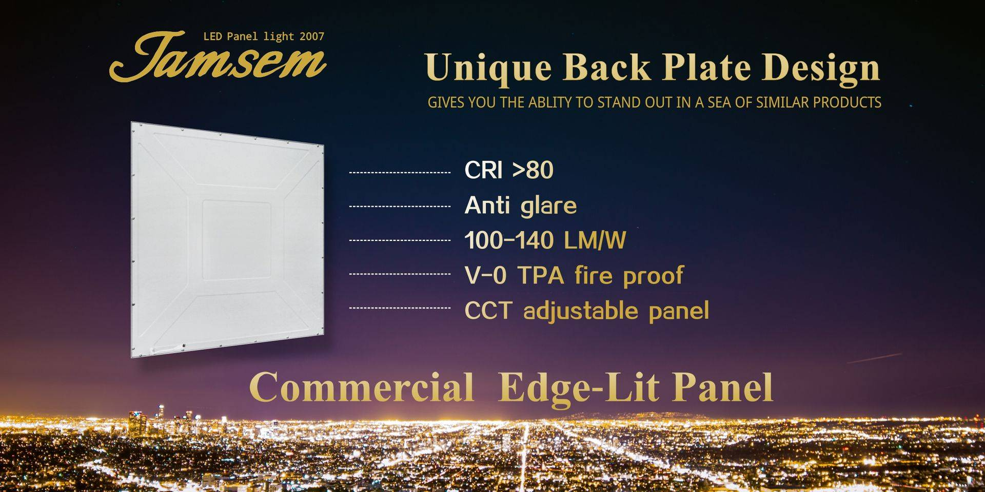led light panel edge lit Europe flat panel lighting