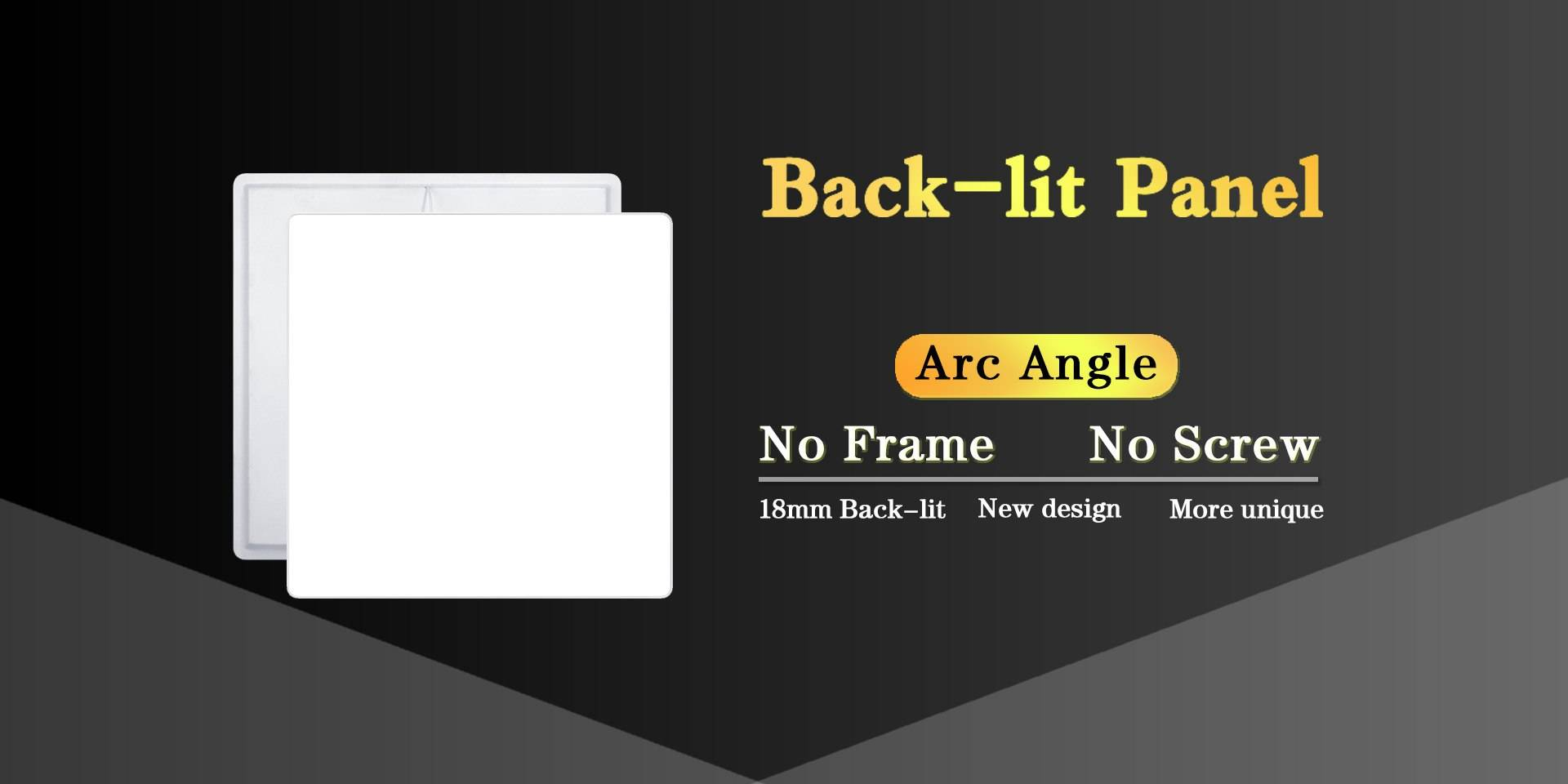 Back-Lit LED Panel Light    back lighting panel thinnest led panel Backlit panel JAMSEM LED flat panel light